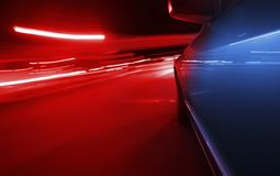 Emergency police car light blur at night Royalty Free Stock Photo