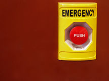 Emergency push button Royalty Free Stock Photos