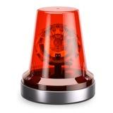 Emergency red siren light. Isolated white background 3d Stock Photo