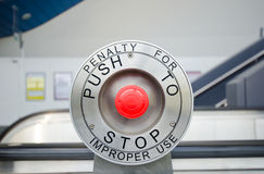 Red stop button Royalty Free Stock Photo