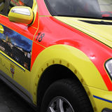 Emergency rescue car Royalty Free Stock Images