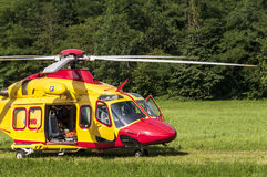 Emergency rescue helicopter Royalty Free Stock Photography
