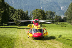 Emergency rescue helicopter royalty free stock photo
