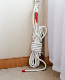 Emergency rescue rope Stock Photo