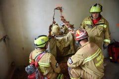 Emergency rescue team in action during NATO Vigorous Warrior 19 exercise. BUCHAREST/ROMANIA - APRIL 10, 2019: Emergency rescue team in action during the most stock photos