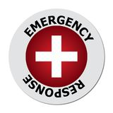 Emergency Response An Icon With A White Cross On Red Background And The Text