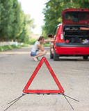 Emergency road sign Royalty Free Stock Photo