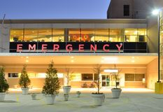 Emergency Room. Exterior of a hopsital Emergency Room royalty free stock photography