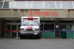 Emergency room entrance Stock Photos