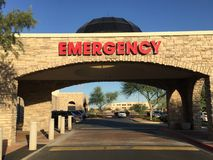 Emergency Room Entrance. Stock Photos