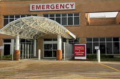 Emergency room entrance Royalty Free Stock Photos