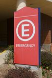 Emergency Room Sign. Hospital Emergency Room Sign Stock Image