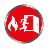 Emergency route sign icon Stock Photo