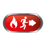 Emergency route sign icon Royalty Free Stock Photography