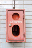 Emergency safety cabinet Royalty Free Stock Photos