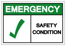 Emergency Safety Condition Symbol, Vector Illustration, Isolate On White Background Label. EPS10 stock illustration