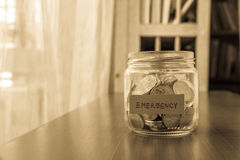 Emergency savings fund Royalty Free Stock Photo