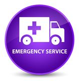 Emergency service elegant purple round button. Emergency service isolated on elegant purple round button abstract illustration Stock Images
