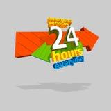 Emergency service everyday. 24 hours service emergency everyday. Vector illustration Stock Photo