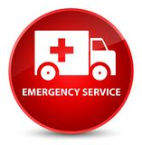 Emergency service elegant red round button. Emergency service isolated on elegant red round button abstract illustration Royalty Free Stock Photography