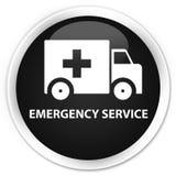 Emergency service premium black round button. Emergency service isolated on premium black round button abstract illustration Stock Photo