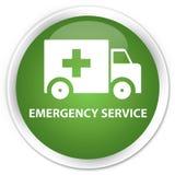 Emergency service premium soft green round button. Emergency service isolated on premium soft green round button abstract illustration Stock Photo