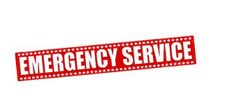 Emergency service. Rubber stamp with text emergency service inside,  illustration Stock Photo