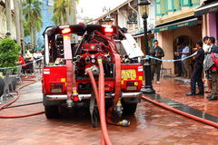 Emergency service Singapore Fire truck Stock Images