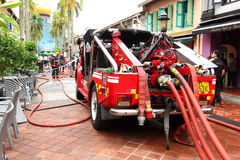 Emergency service Singapore Fire truck Royalty Free Stock Photography
