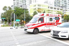 Emergency service Singapore Police Royalty Free Stock Images