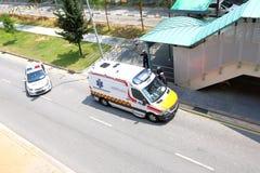 Emergency service Singapore Police Stock Photo