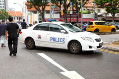 Emergency service Singapore Police Royalty Free Stock Photo