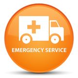 Emergency service special orange round button. Emergency service isolated on special orange round button abstract illustration Stock Images