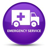 Emergency service special purple round button. Emergency service isolated on special purple round button abstract illustration Royalty Free Stock Images