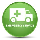 Emergency service special soft green round button. Emergency service isolated on special soft green round button abstract illustration Stock Photos
