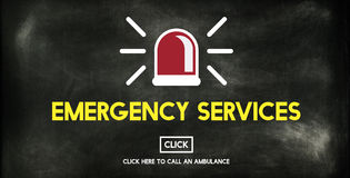 Emergency Services Accidental Crisis Critical Risk Concept Royalty Free Stock Photos