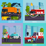Emergency Services Icon Set Royalty Free Stock Photo