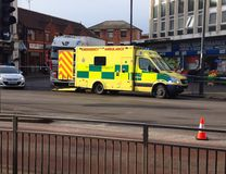 Emergency services at an incident. Royalty Free Stock Image