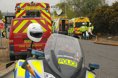 Emergency services at a major incident. Royalty Free Stock Images