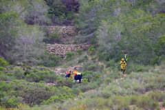 Emergency Services Mountain Rescue Stock Photo