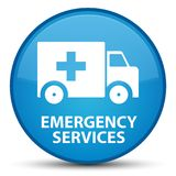 Emergency services special cyan blue round button. Emergency services isolated on special cyan blue round button abstract illustration Stock Image