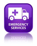 Emergency services special purple square button. Emergency services isolated on special purple square button reflected abstract illustration Royalty Free Stock Photo