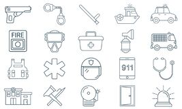 Emergency Services Vector Icon. Can Be Used For Web And Mobile Apps. Stock Photos