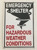 Emergency Shelter for Hazardous Weather stock image