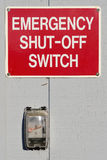 Emergency Shut Off Royalty Free Stock Photo
