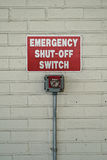 Emergency Shut Off Switch Sign Royalty Free Stock Photos