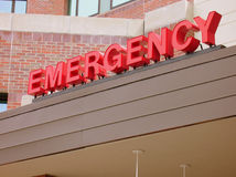 EMERGENCY Sign. Hospital EMERGENCY sign royalty free stock image