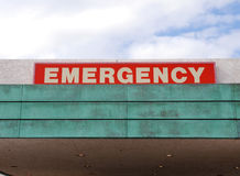 Emergency Sign. On hospital Entrance Royalty Free Stock Photos
