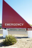 Emergency Sign. Sign for the emergency entrance to a hospital Royalty Free Stock Images