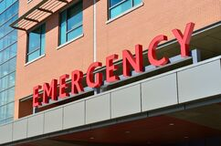 Emergency sign Stock Image